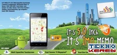Setelah Nexian merilis smartphone dengan layar besar IMO Memo W8600, Android Berkamera 8 MP dan Layar 5 Inci