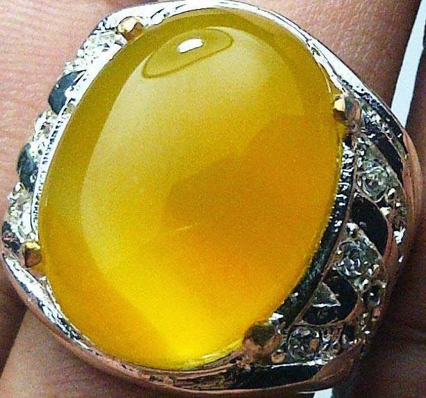 Batu Natural Cempaka Sunkis Top Kristal