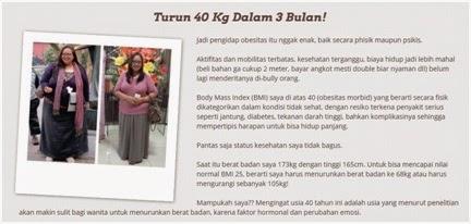 Turun 40 kilo dalam 3 bulan..!!