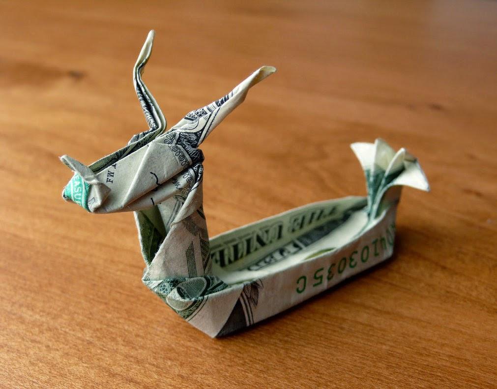 3d Origami Dragon Boat