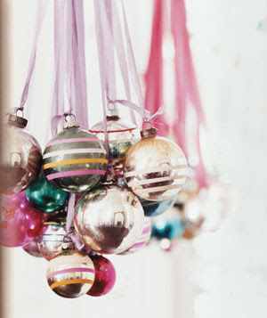 Anyone can decorate christmas chandelier diy craft for Hanging ornaments from chandelier