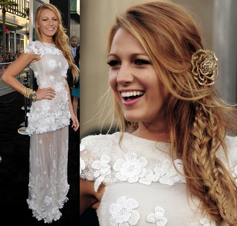 White Long Dress on Celeb Style  Blake Lively