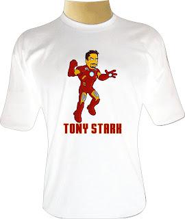 Camiseta Tony Stark Simpsons