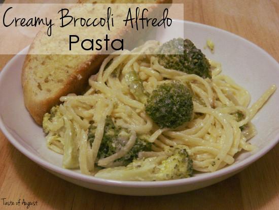 Creamy Broccoli Alfredo Pasta