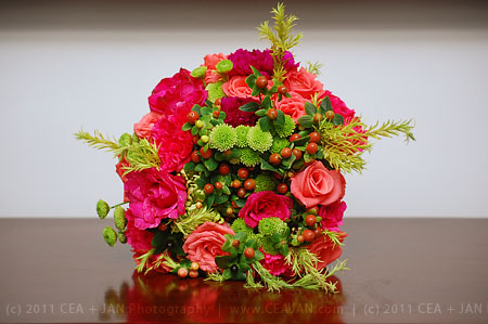 Having a wedding on summer Opt for bright colors for your bouquet like this