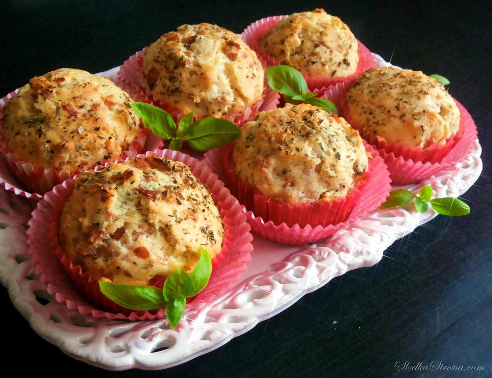 Muffiny z Szynką i Serem - Przepis - Słodka Strona