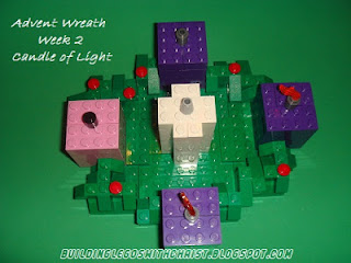 LEGO Advent Wreath, Candle of Light, Week two of Advent, Advent for Kids
