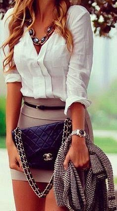 See More Style - essential details....with a little more length on that skirt this would be fabulous