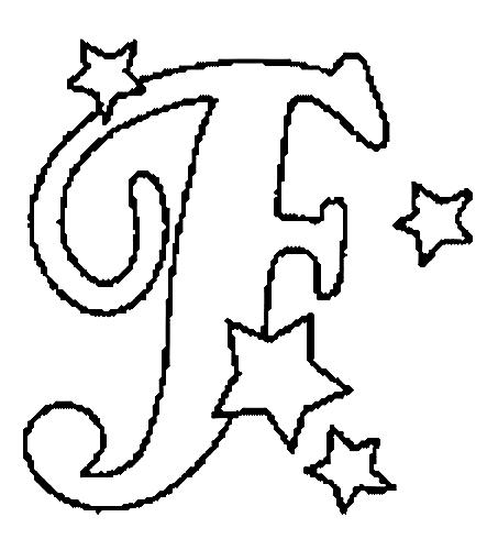 Desenhos Para Colori letras do alfabeto letra F desenhar