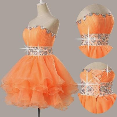 oranged mini dresses. Cute if you want to cover your chest and shoulders a tiny bit!