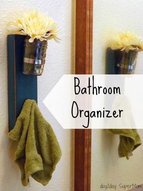 3 Popular Pinterest Projects: My Bathroom Decor ~ DIY Friday ~ Bathroom Organizer