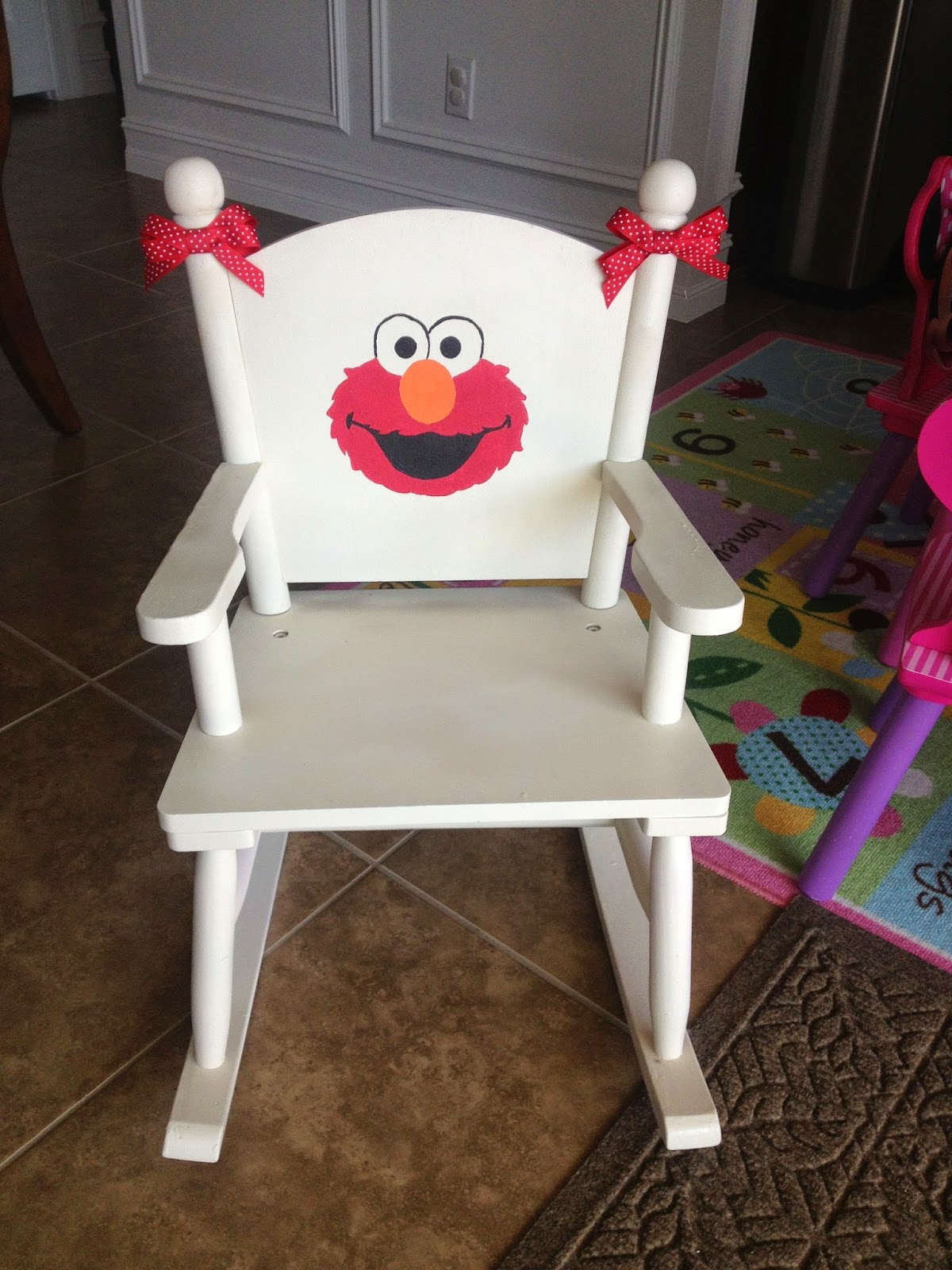 Elmo folding chair - Finished Elmo Rocking Chair