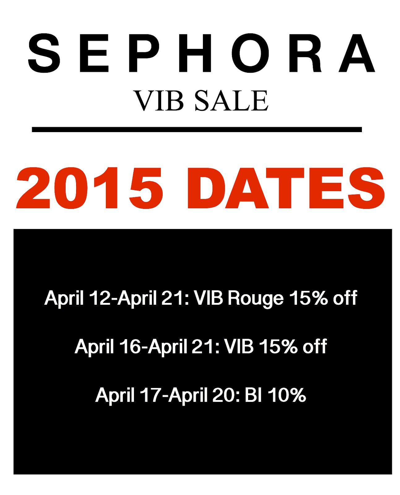 sephora sale codes