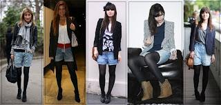 Erfahren Sie kombinieren Shorts mit Strumpfhosen