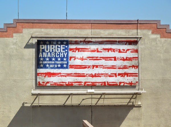The Purge Anarchy US gun flag billboard