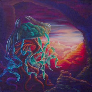Bonsai Jelly 'Shroom acrylic painting
