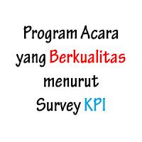 Program Acara yang Berkualitas Menurut Survey KPI