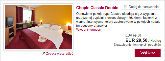 Chopin Hotel Cracow Old Town za 29,50 EUR