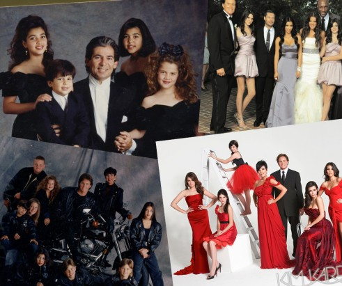 kim kardashian christmas card family jenner through the years main 491x411