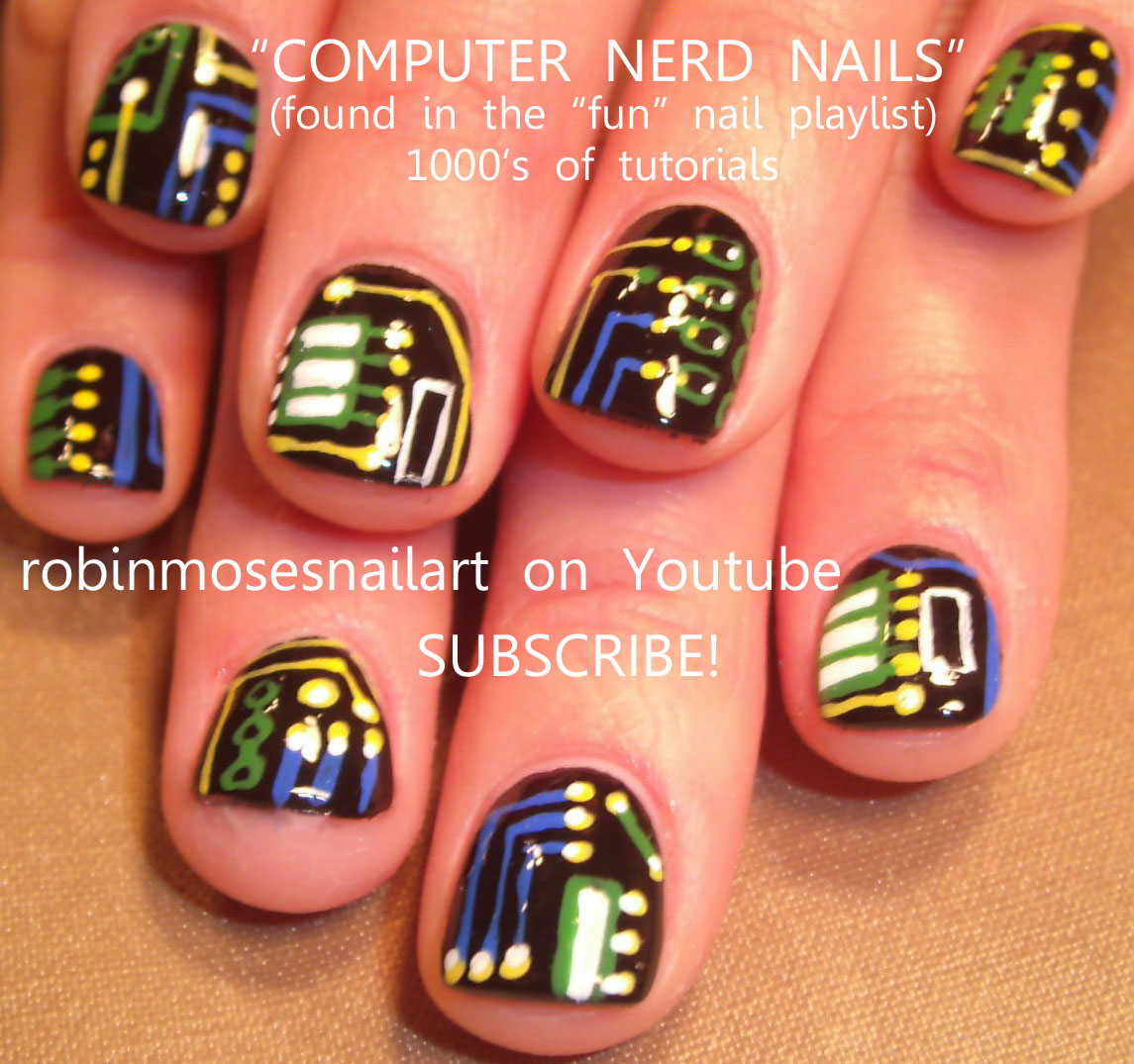 Geek Nail Art Computer Geek Nails Geek