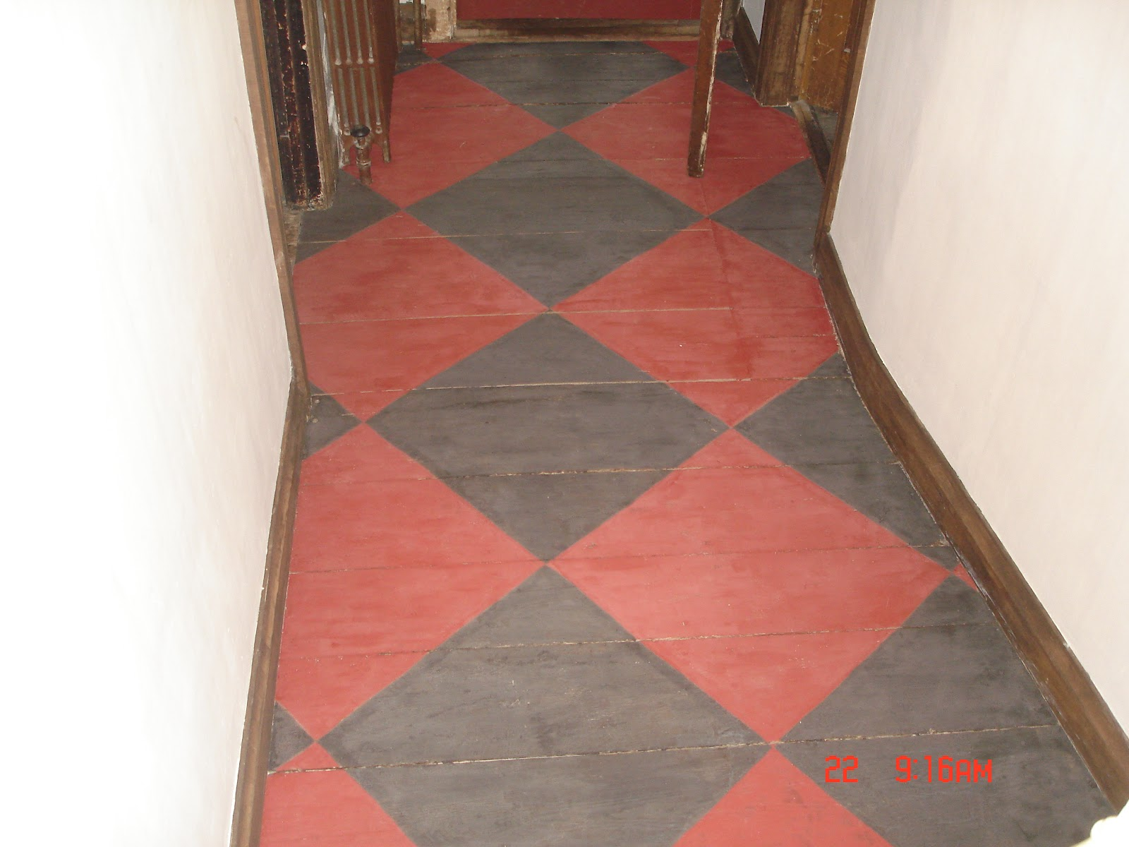 Milk Paint Tile Floor