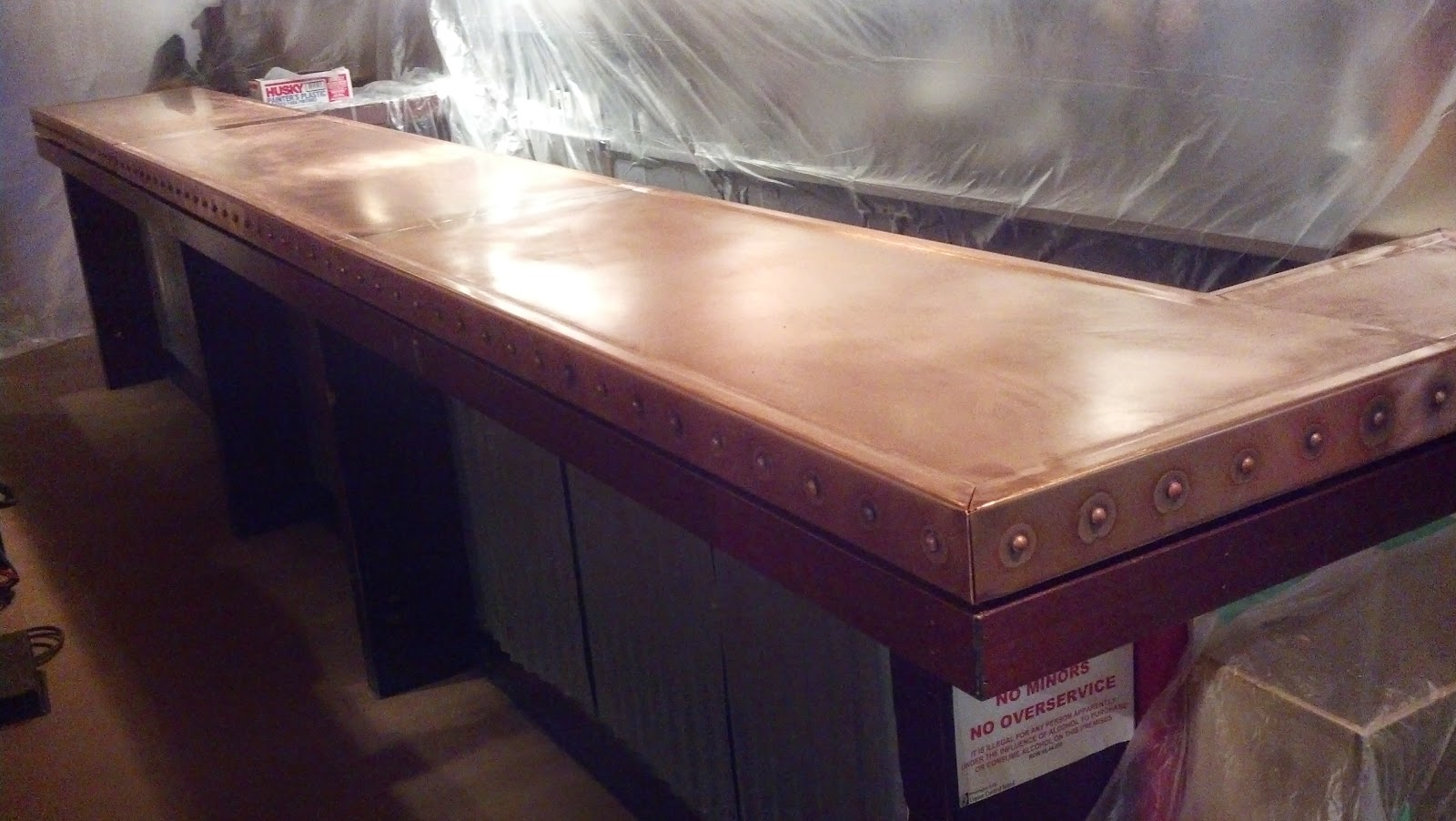 Heavy Metal Works Prima Bistro Copper Bar Top