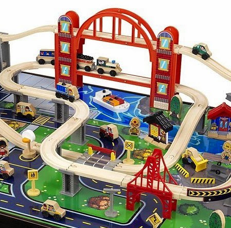 Wonderful Kidkraft Boys Metropolis Train Table Set Contemporary ...