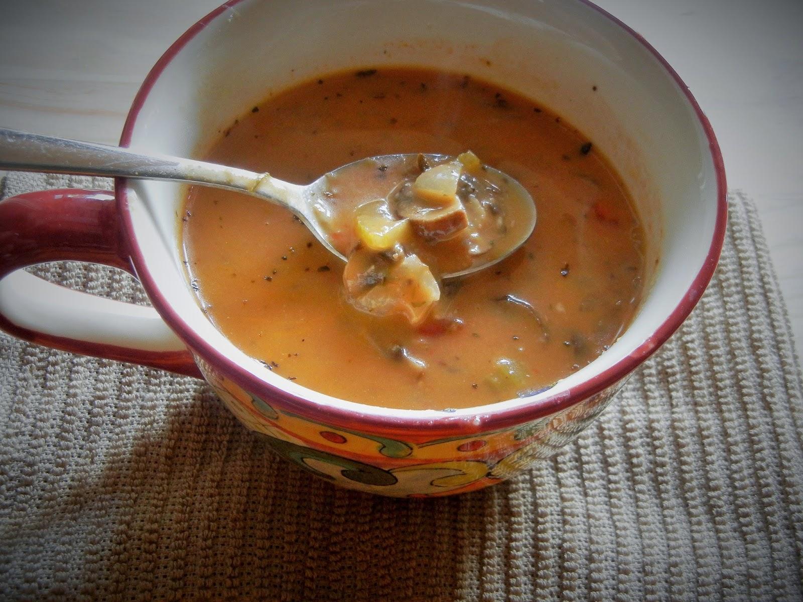 Cream of mushroom soup | Gita's Kitchen - A blog for Indian diabetic ...