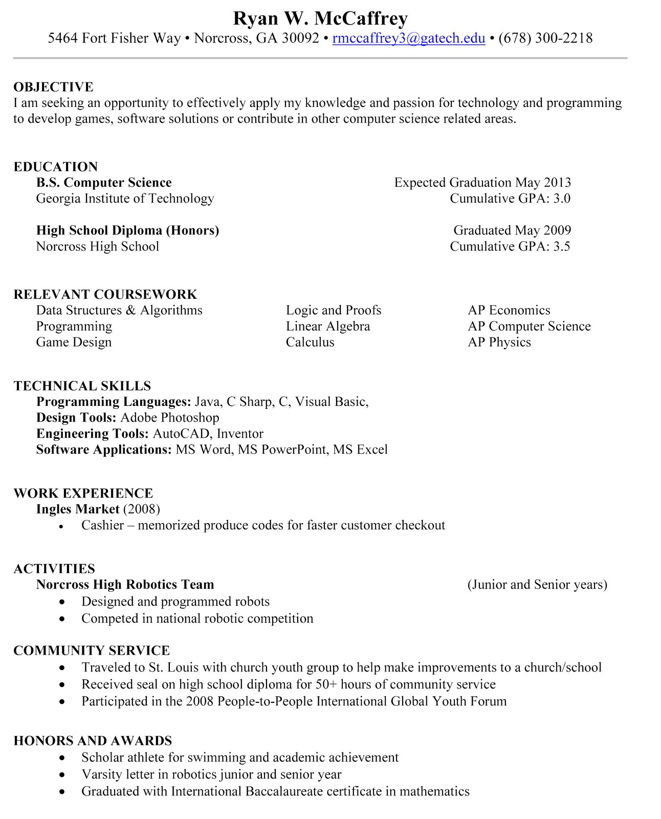 Make a professional resume