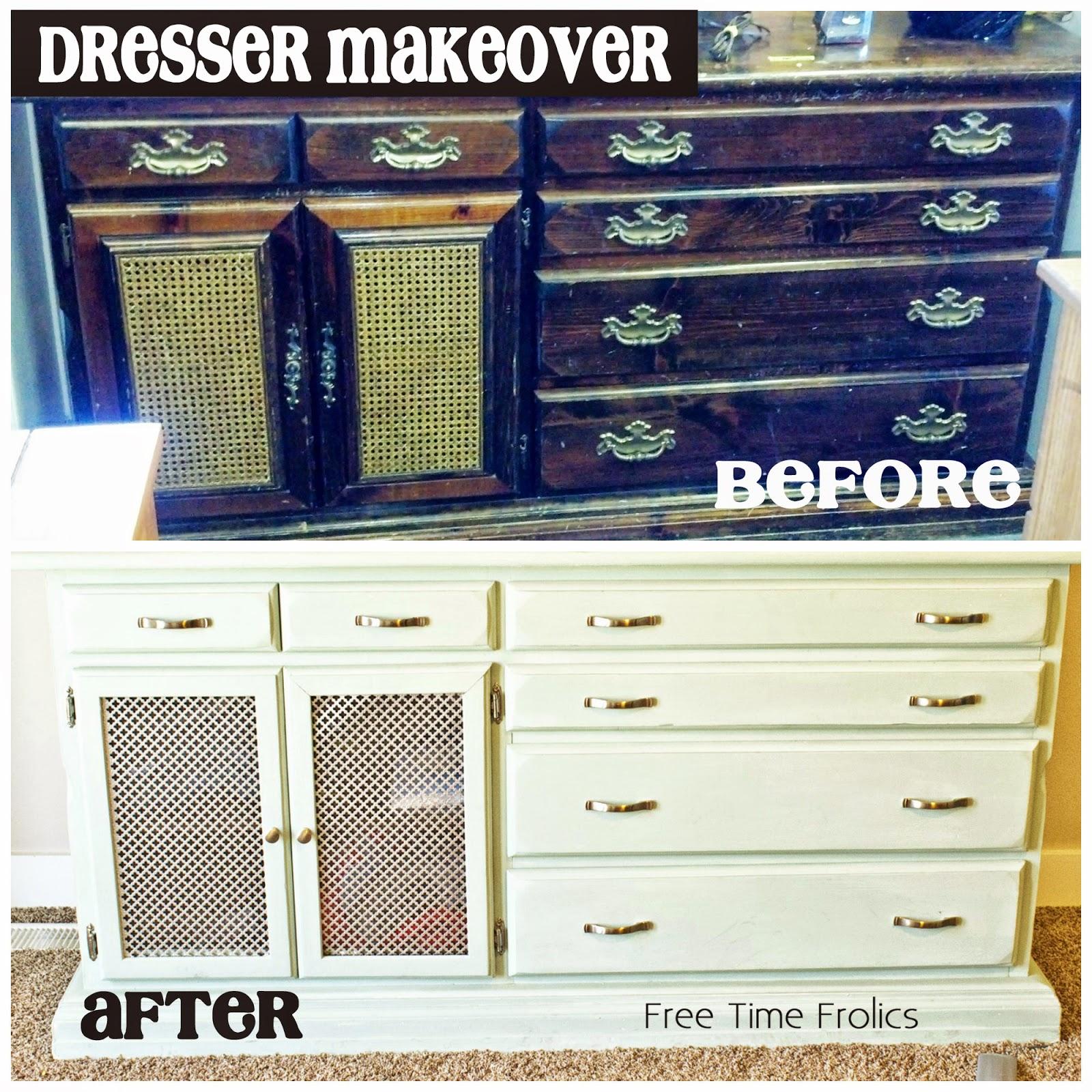 dresser update before and after www.freetimefrolics.com #diy