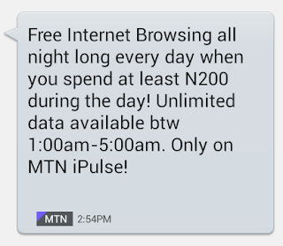 FOR REAL-Another MTN UNLIMITED FREE NIGHT BROWSING