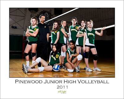 Pinewood Junior High Volleyball Los Altos Sports Photography by Still Light Studios