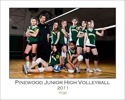 Pinewood Junior High Volleyball Los Altos Sports Photography by Still Light Studios