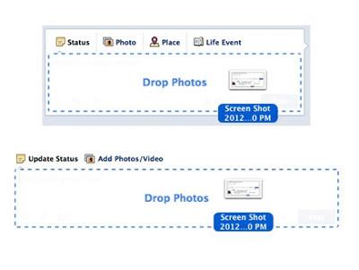 فيسبوك يحدّث واجهة الاستخدام بميزات جديدة.يتيح للمستخدمين رفع العديد من الصور مرة واحدة بواسطة ميزة السحب والإفلات