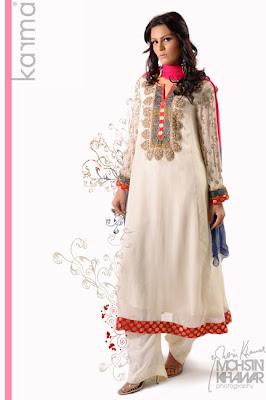 Pakistani Dress Designers on 2012   Karma Pakistani Fashion Designer   Eid Wear For Girls By Karma