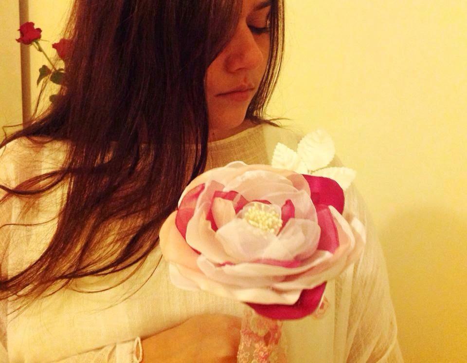 bouquet tecido tons de rosa