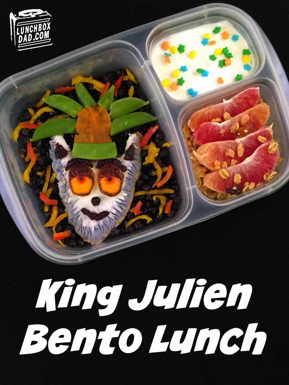 King Julien bento lunch Madagascar All Hail King Julien