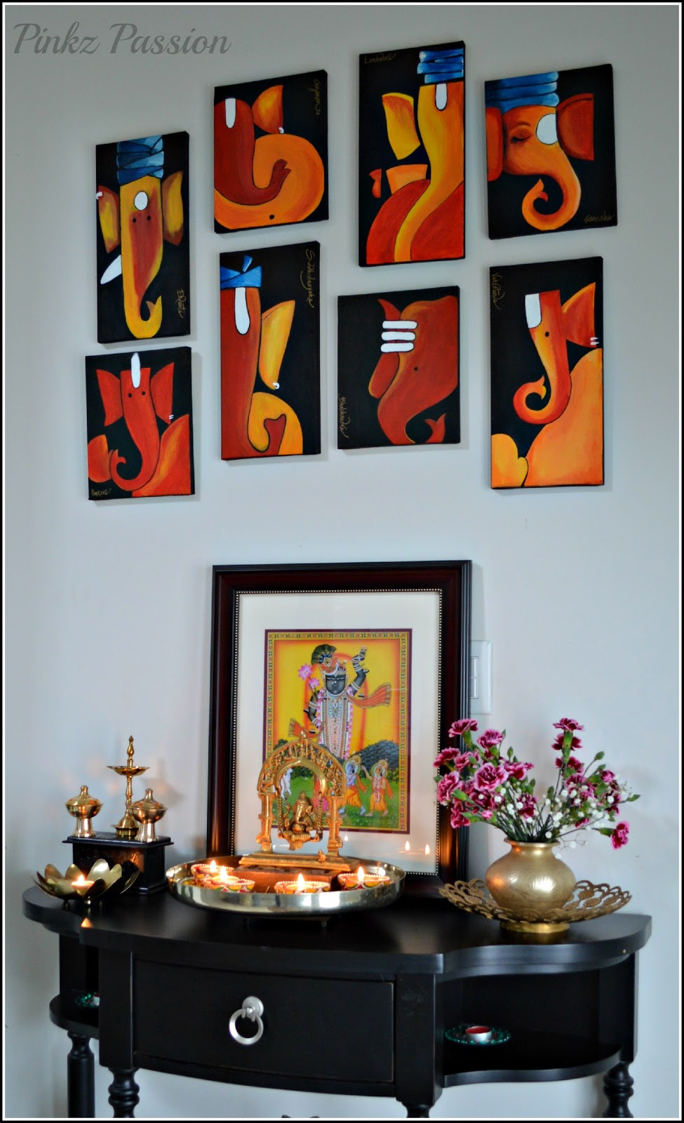 Pinkz passion festival of lights diwali decor 1 for Home decorations in diwali