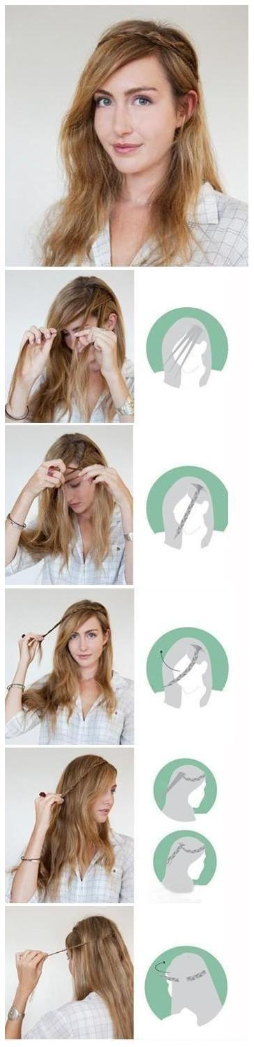 Make a beautiful braid for your hair