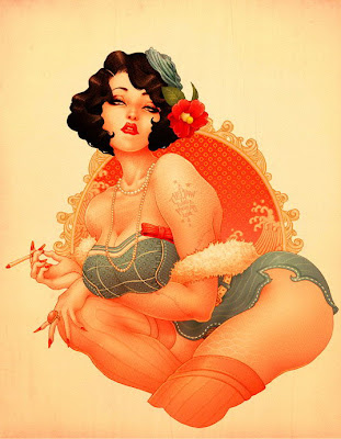 Burlesque Pinup girl