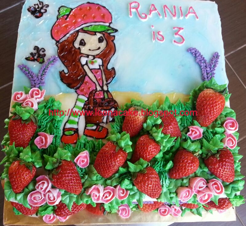 Leena Cake Creations Strawberry Shortcake Birthday Cake