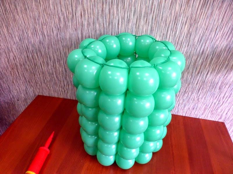 Схема вазы из шариков