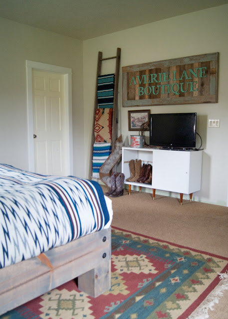 Master Bedroom Makeover - DIY Headboard & Bed, vintage Decor, yard sale finds, salvaged wall sconces, hand sewn pillows