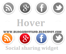 Social Media Sliding Hover Effect Share Widget