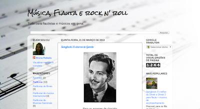 Música, flauta e rock n' roll. Um site feito para flautistas e músicos em geral, com várias partituras e programas para ajudar na hora de tocar