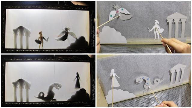самодельный театр теней shadows puppet theatre