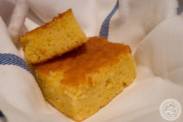 image of corn bread at Blue Smoke in NYC, New York