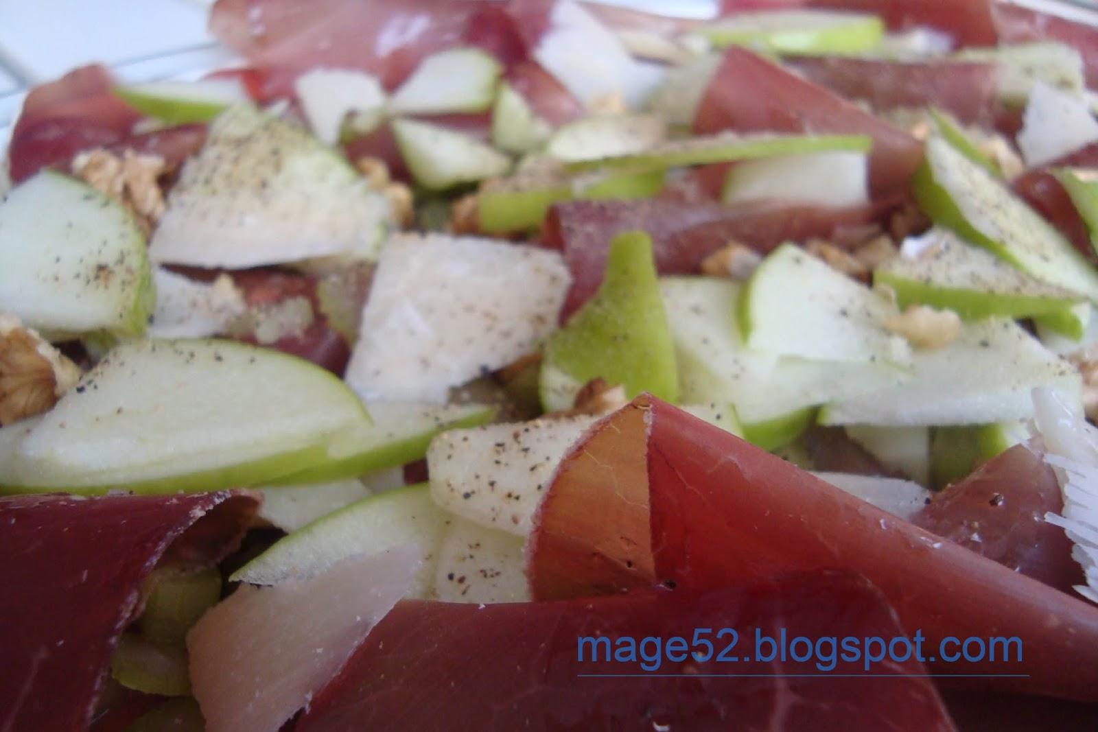 Ricette e Altro: bresaola con mela, noci e grana