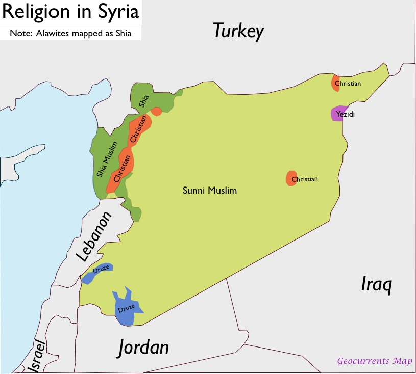 Syria Religion Map Apa Sebenarnya Berlaku Di Syria?