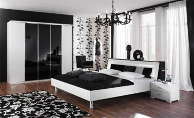 Simple Bedroom Designs on Bedroom Design Decor  Black And White Bedroom